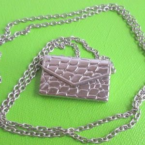 Silvery Lovenote Necklace (it opens!)